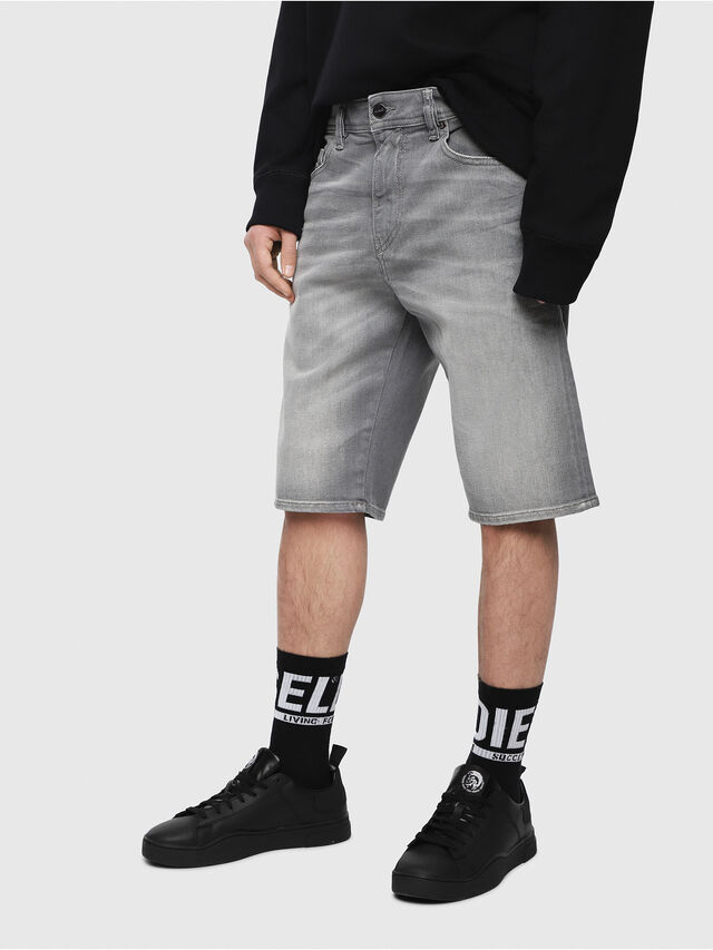 Diesel - THOSHORT, Grey Jeans - Shorts - Image 1