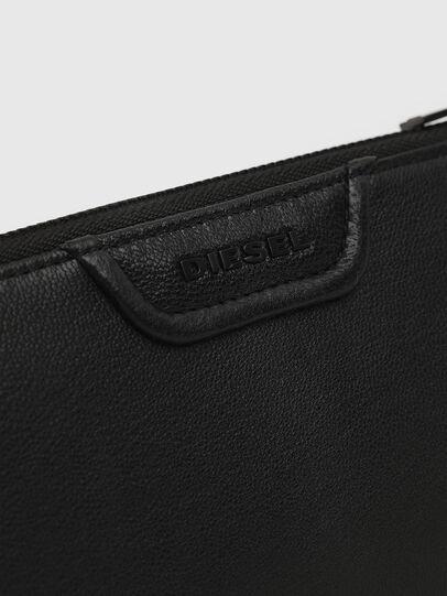 Diesel - L-24 ZIP, Black - Zip-Round Wallets - Image 3