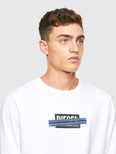 Diesel - T-DIEGOS-LS-X1, White - T-Shirts - Image 3