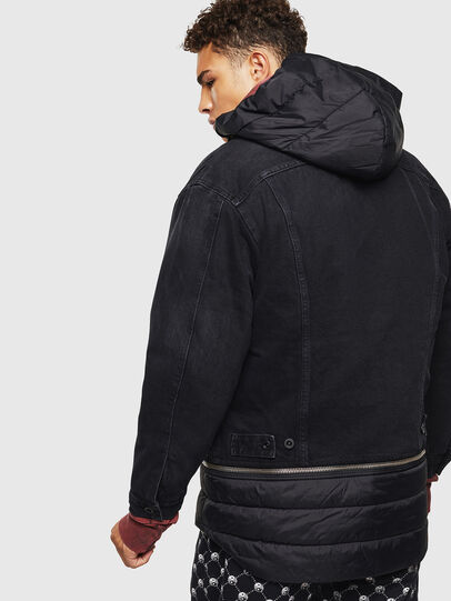 Diesel - D-SHER, Black - Winter Jackets - Image 2