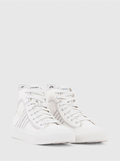 Diesel - S-ASTICO MID LACE W, White - Sneakers - Image 2