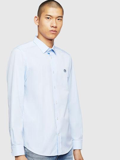 Diesel - S-BILL, Azure - Shirts - Image 1