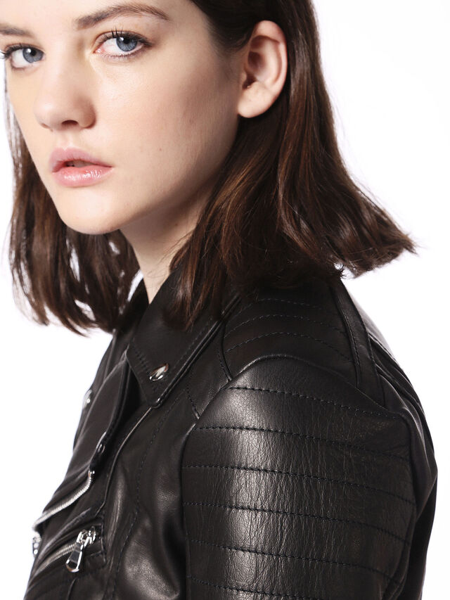 Diesel - LINEW, Black - Leather jackets - Image 8