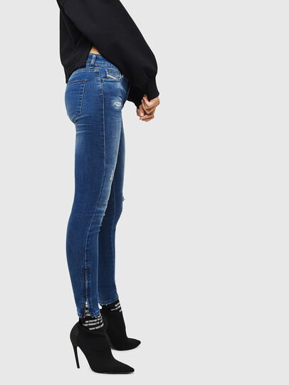 Diesel - Slandy Zip 089AI, Medium blue - Jeans - Image 4