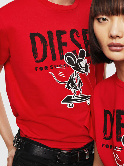 Diesel - CL-T-DIEGO-1, Red - T-Shirts - Image 4