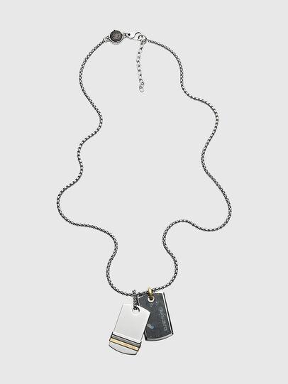 Diesel - DX1189, Silver - Necklaces - Image 1