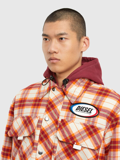 Diesel - J-TANIFER, Red/White - Jackets - Image 3