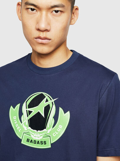Diesel - T-JUST-B1, Blue - T-Shirts - Image 3