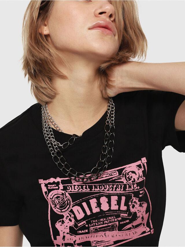 Diesel - T-SILY-C3, Black/Pink - T-Shirts - Image 3