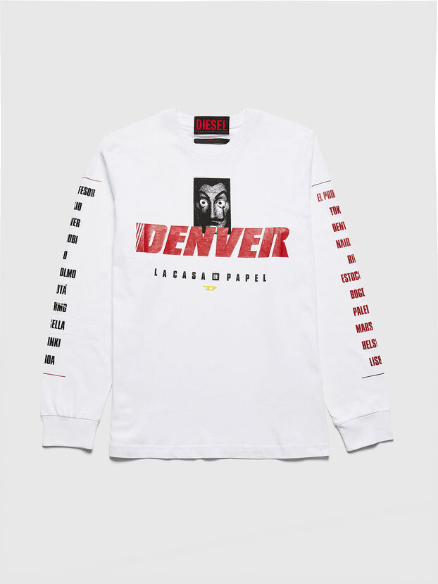 LCP-T-JUST-LS-DENVER, White - T-Shirts