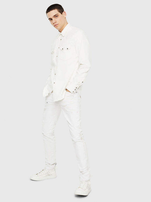 Diesel - D-LEO, White - Denim Shirts - Image 5