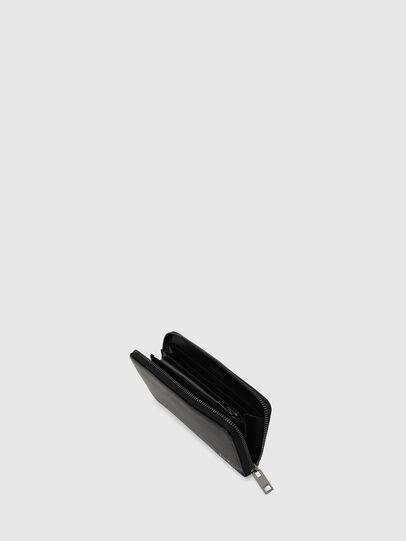 Diesel - 24 ZIP, Black - Zip-Round Wallets - Image 6