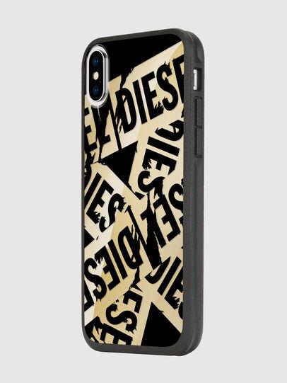 Diesel - MULTI TAPE GOLD/BLACK IPHONE X CASE, Gold - Cases - Image 5