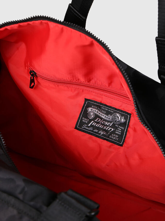 Diesel - F-DISCOVER DUFFLE, Black - Travel Bags - Image 5