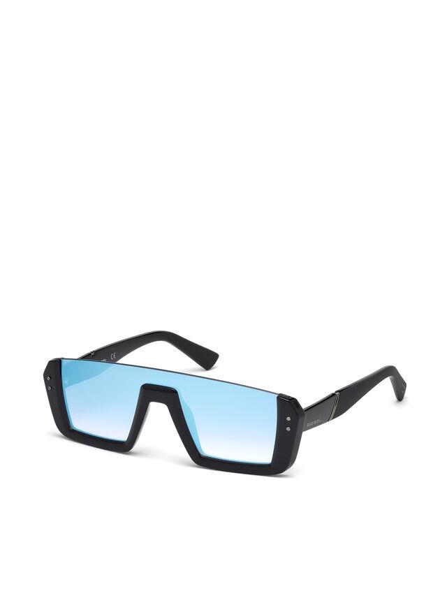 Diesel DL0248, Bright Black - Eyewear - Image 4