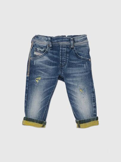 Diesel - KROOLEY JOGGJEANS-B-N, Blue/Yellow - Jeans - Image 1