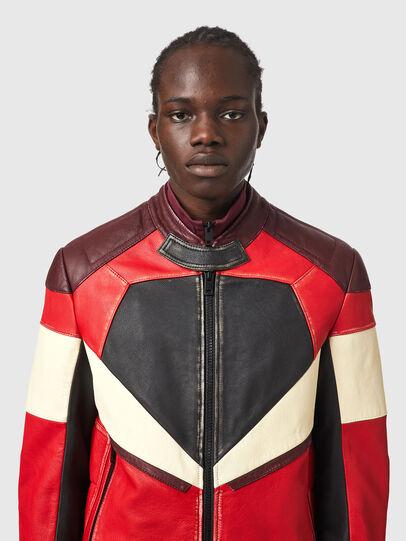Diesel - L-TEAM, Red/Black - Leather jackets - Image 3