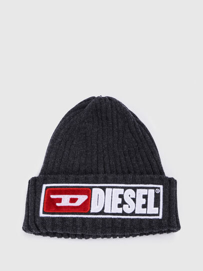 Diesel - K-CODER-B, Black - Knit caps - Image 1