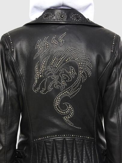 Diesel - L-DIANE, Black - Leather jackets - Image 6