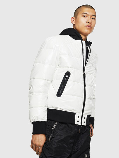Diesel - W-ON, White - Winter Jackets - Image 1