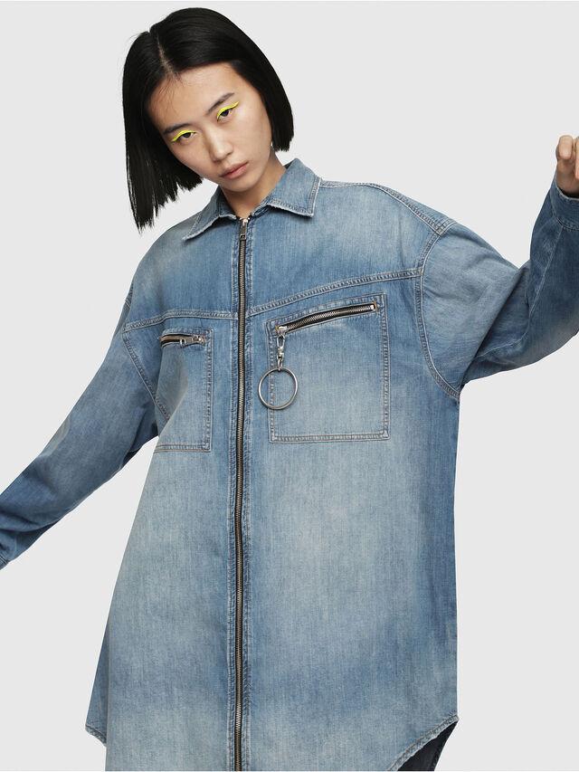 Diesel - DE-EUFRASIA, Blue Jeans - Denim Shirts - Image 1