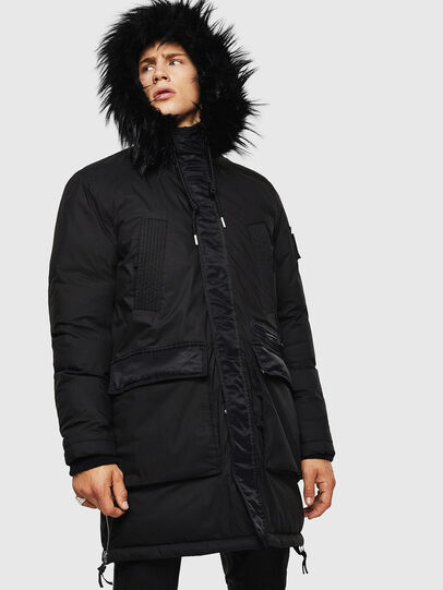 Diesel - W-BULLISK, Black - Winter Jackets - Image 1