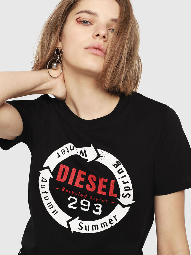 Diesel - T-SILY-C1, Black - T-Shirts - Image 3