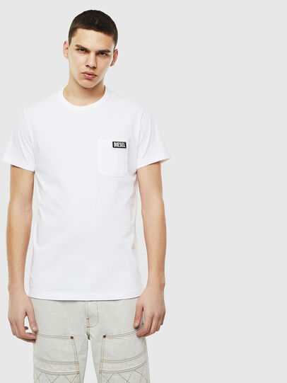 Diesel - T-WORKY-SLITS, White - T-Shirts - Image 1