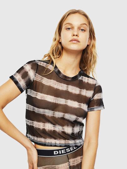 Diesel - UFTEE-ROUNDFEM-M, Black/White - T-Shirts - Image 1