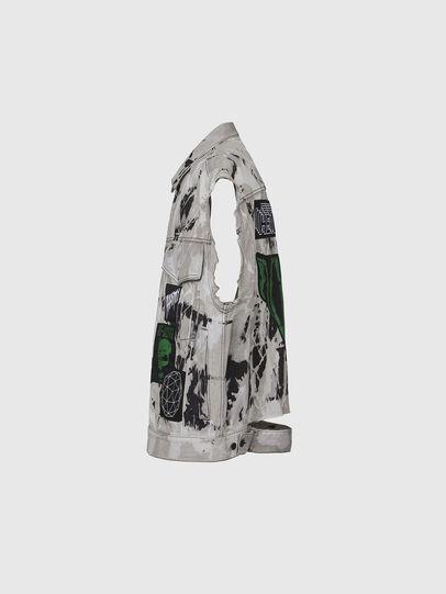 Diesel - D-RAFFO, Black/White - Denim Jackets - Image 3