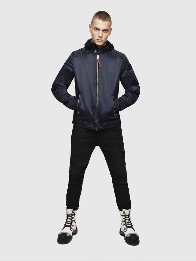 Diesel - J-SHIRO, Dark Blue - Jackets - Image 4