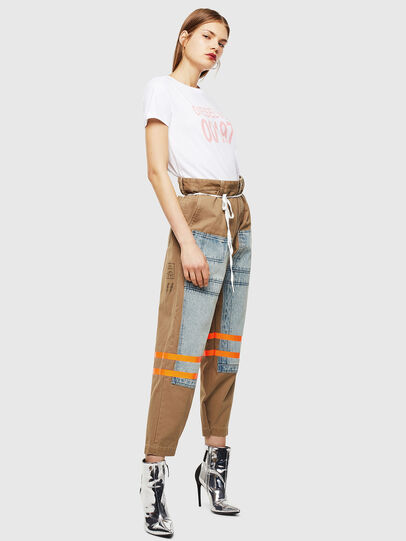 Diesel - T-SILY-001978, White - T-Shirts - Image 5