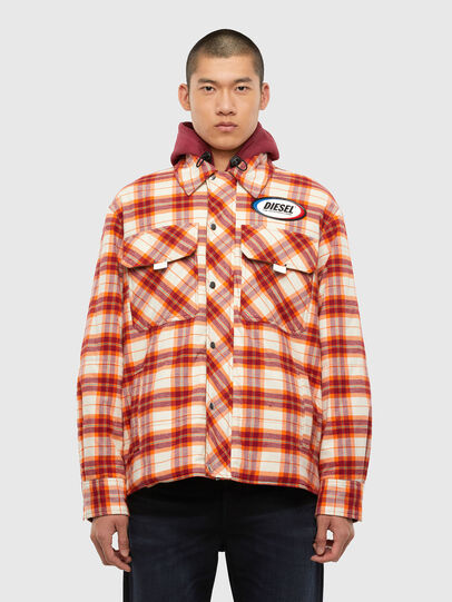 Diesel - J-TANIFER, Red/White - Jackets - Image 1