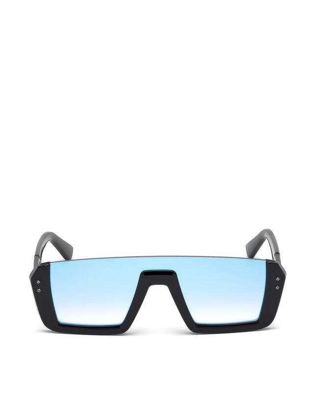 Diesel DL0248, Bright Black - Eyewear - Image 1