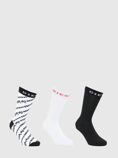 Diesel - SKM-HERMINE-THREEPAC, White/Black - Socks - Image 1