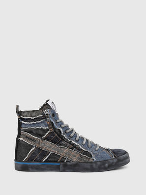 D-VELOWS MID LACE, Black/Blue - Sneakers