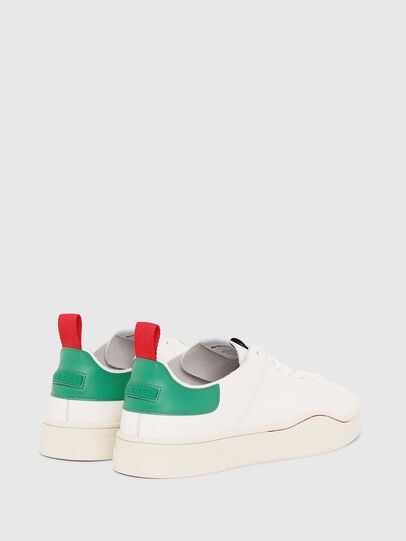 Diesel - S-CLEVER LS, White/Green - Sneakers - Image 3