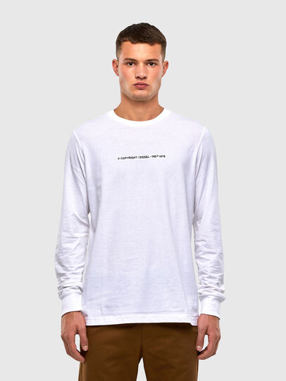 Diesel - T-JUST-LS-X93, White - T-Shirts - Image 1
