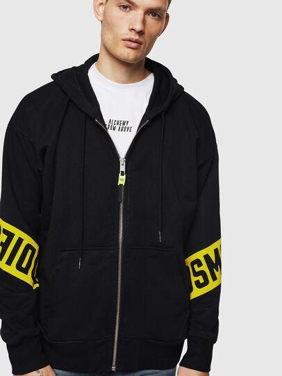 Diesel - S-ALBY-ZIP-A1, Black - Sweaters - Image 1