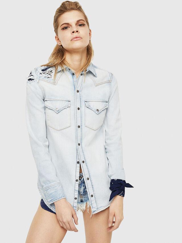 Diesel - DE-BANDY, Blue Jeans - Denim Shirts - Image 1