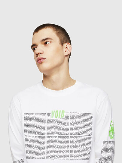 Diesel - T-JUST-LS-NEW, White - T-Shirts - Image 4
