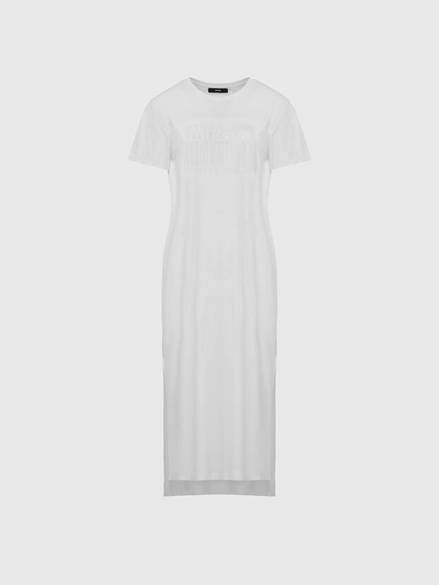 D-FELIX-LONG-E1, White - Dresses