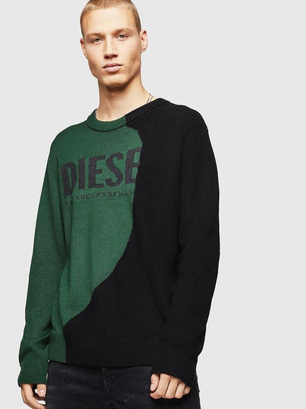 K-HALF, Green/Black - Knitwear