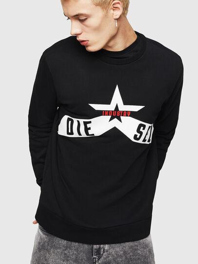 Diesel - S-GIR-A2, Black - Sweaters - Image 1