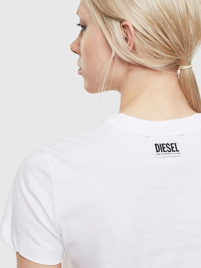 Diesel - T-SILY-S5, White - T-Shirts - Image 3