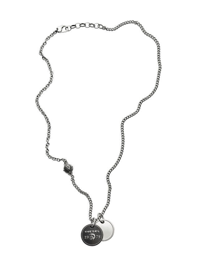 Diesel NECKLACE DX1091, Silver - Necklaces - Image 1
