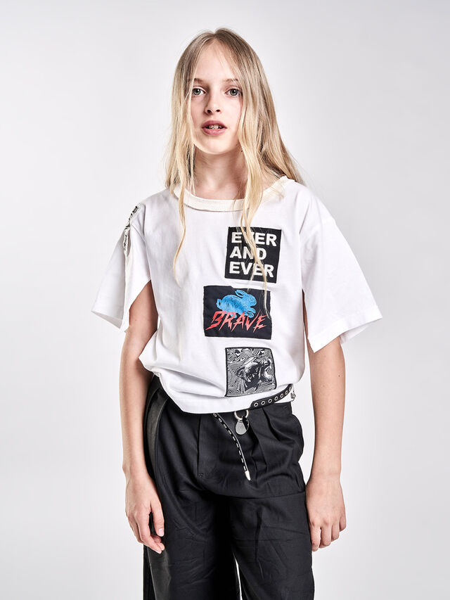 Diesel - TJACKY, White - T-shirts and Tops - Image 4