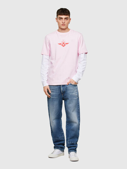 Diesel - T-JUST-E14, Face Powder - T-Shirts - Image 4