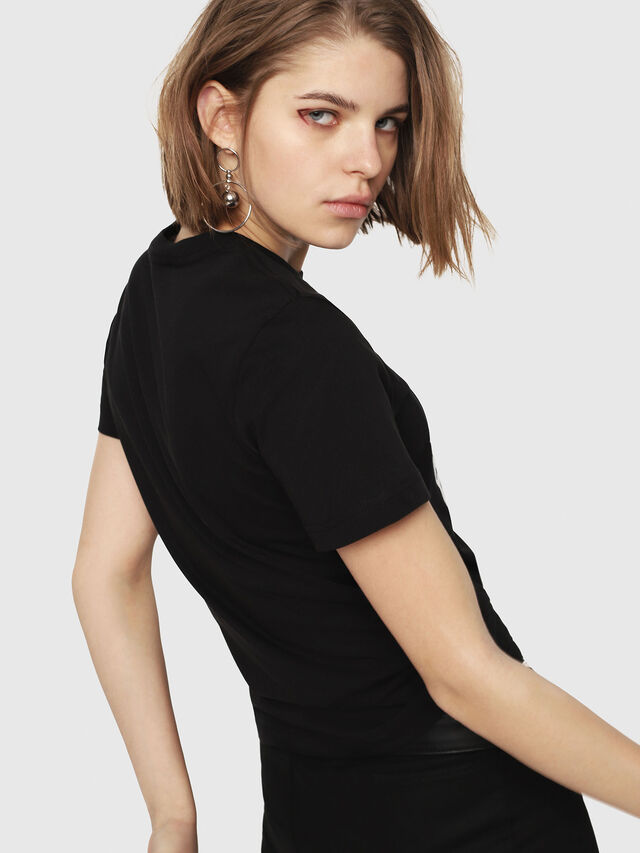 Diesel - T-SILY-C1, Black - T-Shirts - Image 2