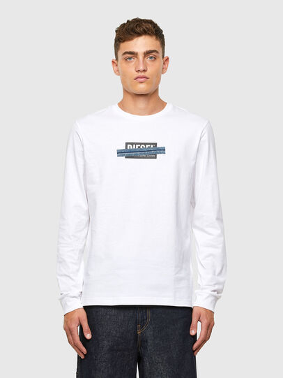 Diesel - T-DIEGOS-LS-X1, White - T-Shirts - Image 1